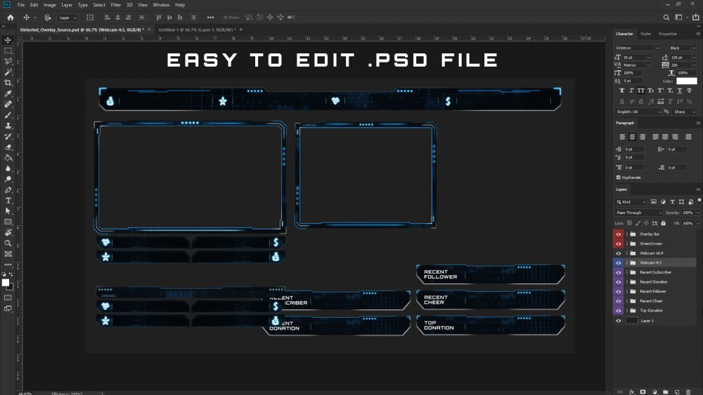 Easy to edit PSD