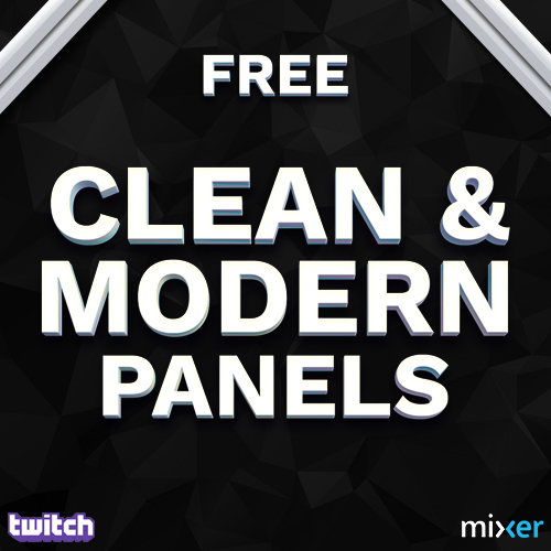 Clean and modern Twitch Panels