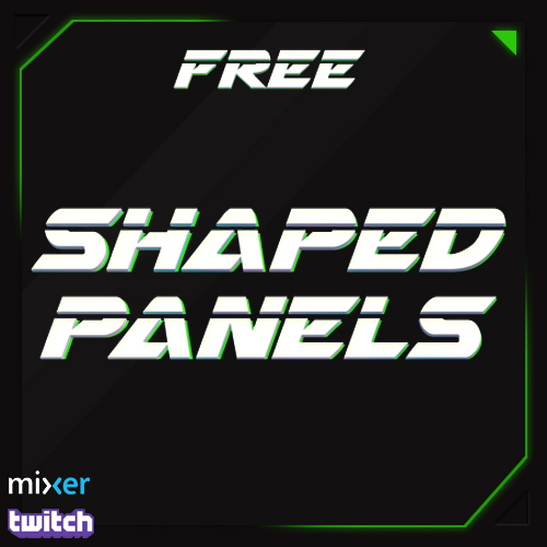 Shaped Twitch Panels