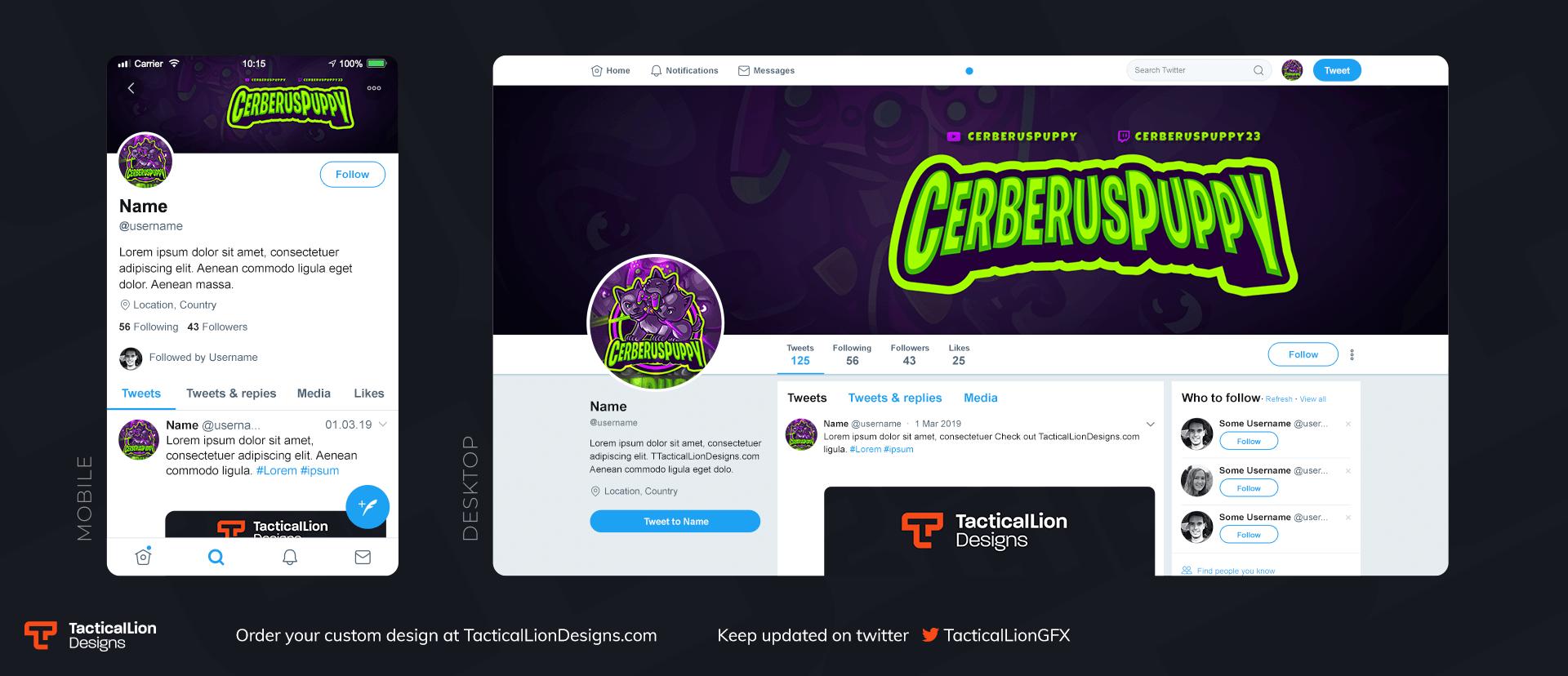Twitter Header CerberusPuppy